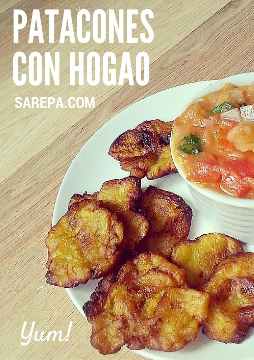 Colombian recipes: How to make patacones + hogao