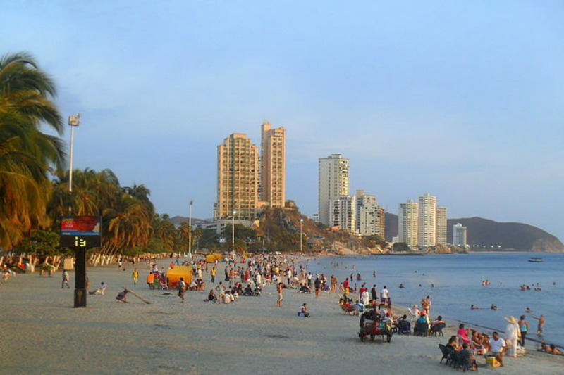 Places to visit in Colombia, Rodadero, Santa Marta