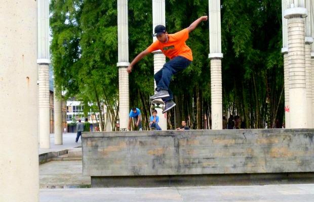 Skateboarder in Medellin, Colombia