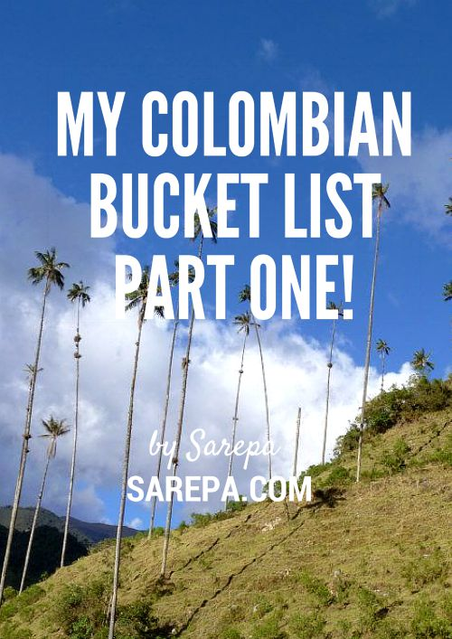 Colombian bucket list