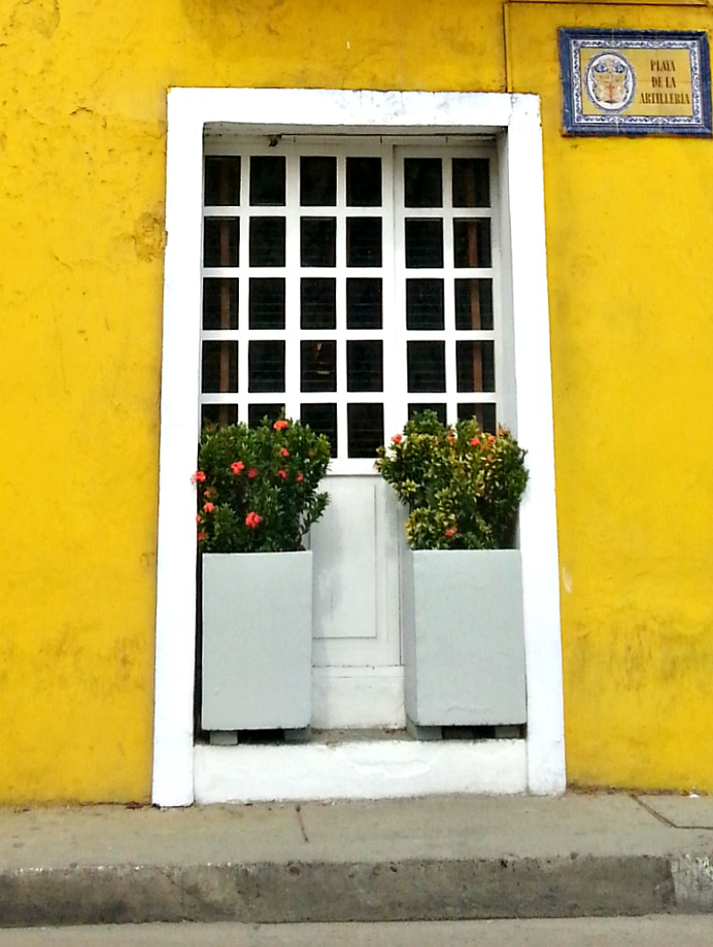 A door in Cartagena, Colombia