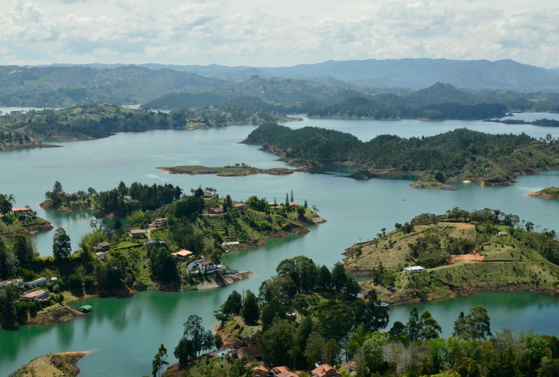 the view from El Peñol in guatape