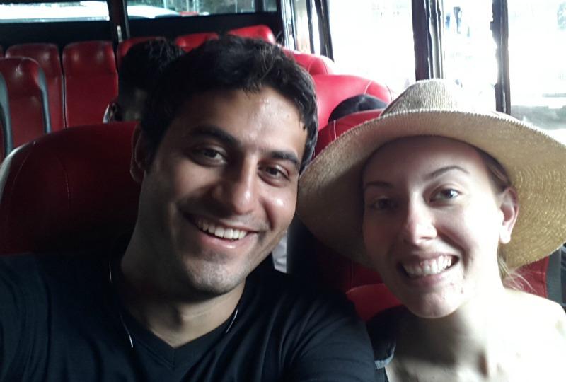 Bus to El Peñol, guatape