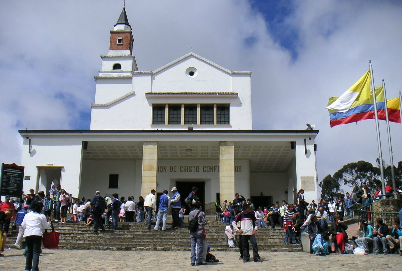 Easter in Colombia - The procession in Monserrate