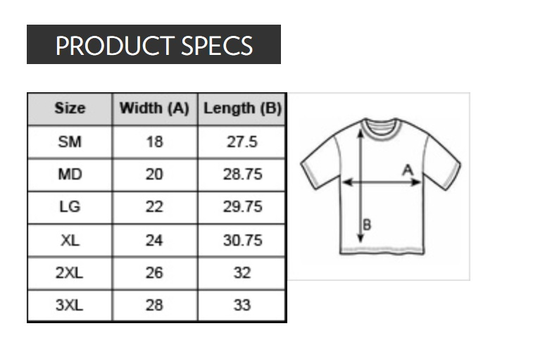 Kiss Me Mens Shirt Size Chart