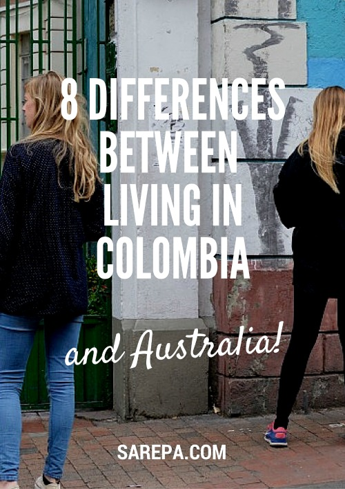 Differences between living in Colombia and Australia