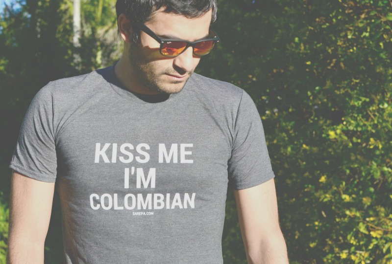 Colombian shirts - Kiss Me I'm Colombia
