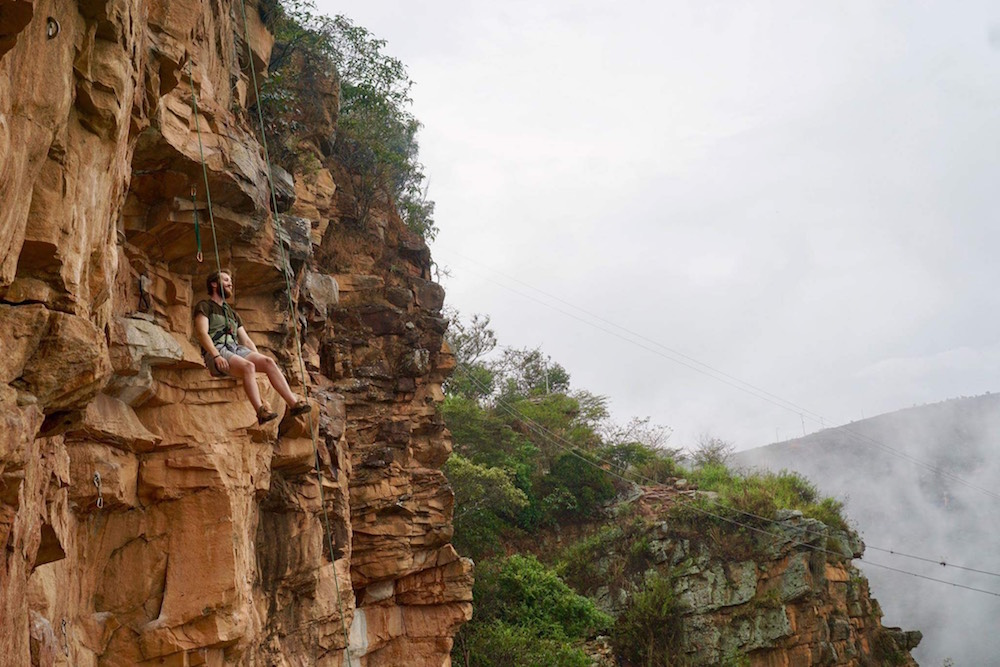 Rock climbing in Colombia